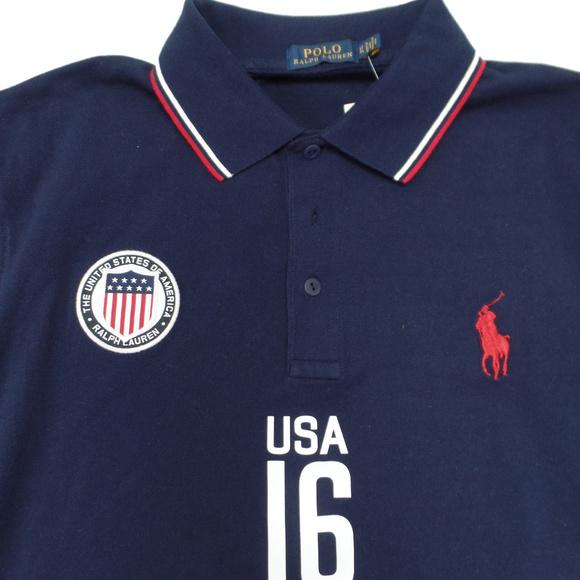 Polo Ralph Lauren Green USA Custom Fit Polo Shirt NWT
